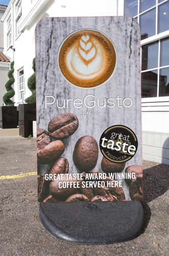 PureGusto Great Taste Award Pavement Sign